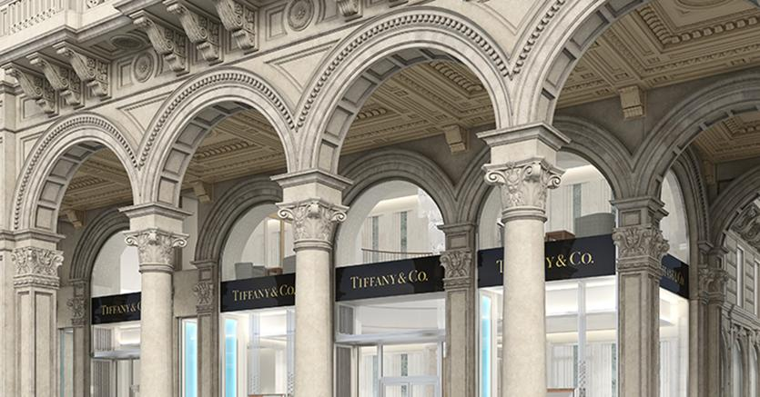 Tiffany opens store in Milan's Piazza Duomo. The largest in Europe