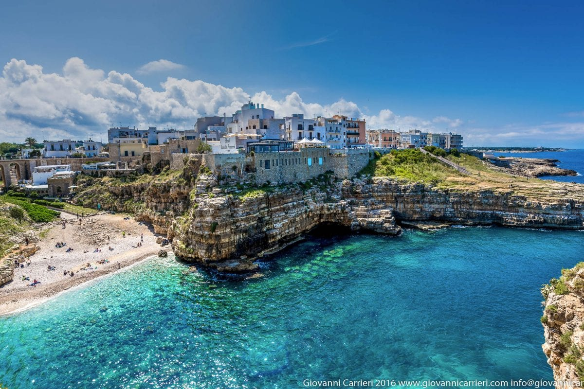 Modugno, the cliff and the ice-cream of Polignano a Mare