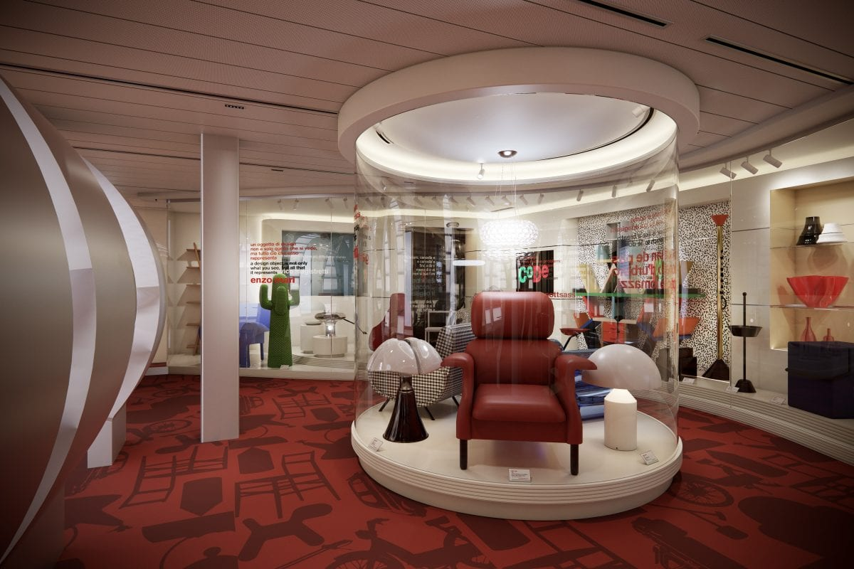 The first cruising museum of Italian design