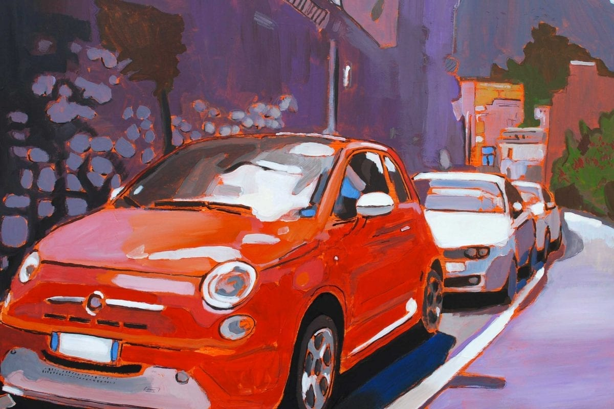 Fiat 500, the muse of art