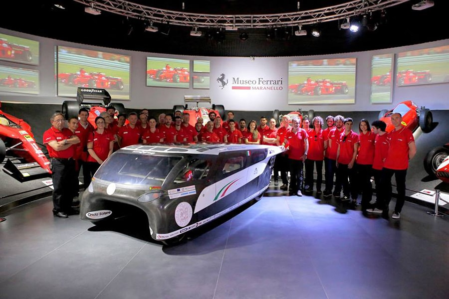 Emilia 4, the first italian solar-powered car