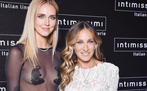 Chiara Ferragni and Sarah Jessica Parker for Intimissimi