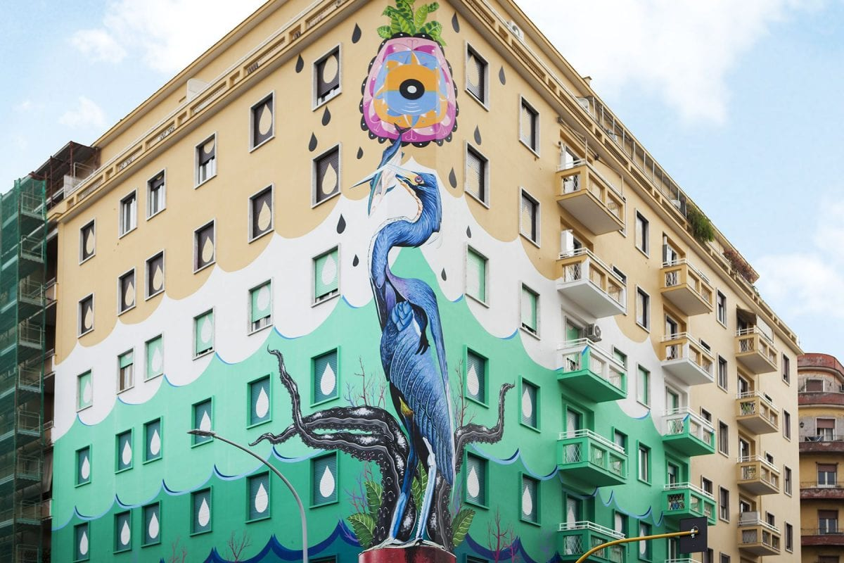 Iena Cruz improves Rome's air quality with a mural