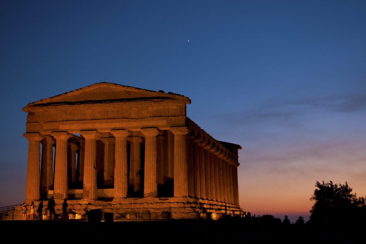 Agrigento, the theater in the Valley of the Temples