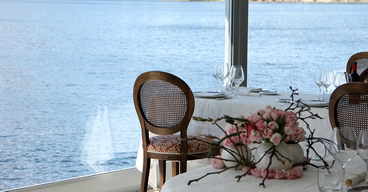 Italian lake view restaurants
