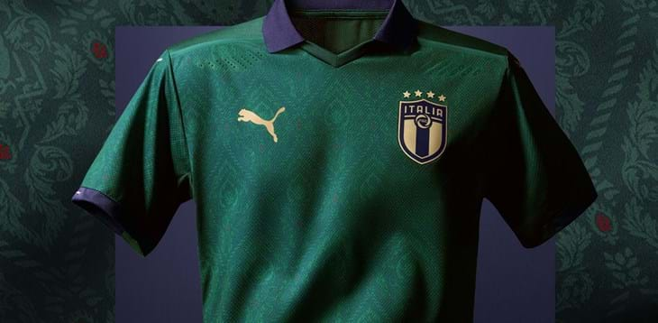 "The Azzurri go green with the ""renaissance"" kit"